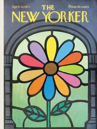 The New Yorker Cover - April 10, 1971 by Charles E. Martin