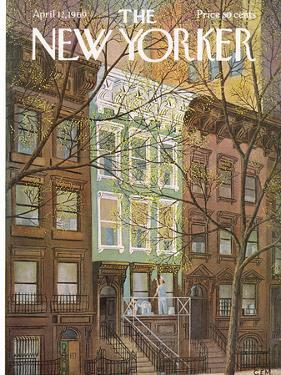 The New Yorker Cover - April 12, 1969 by Charles E. Martin