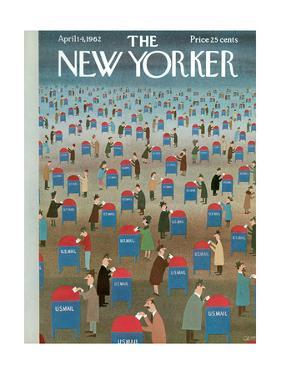 The New Yorker Cover - April 14, 1962 by Charles E. Martin