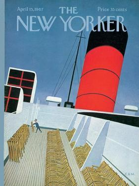 The New Yorker Cover - April 15, 1967 by Charles E. Martin
