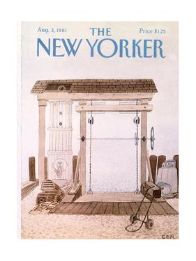 The New Yorker Cover - August 3, 1981 by Charles E. Martin