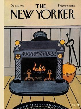 The New Yorker Cover - December 10, 1973 by Charles E. Martin