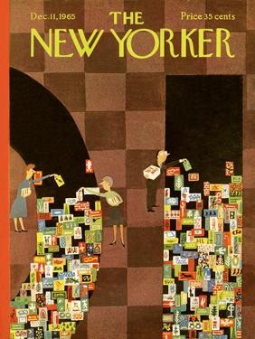 The New Yorker Cover - December 11, 1965 by Charles E. Martin