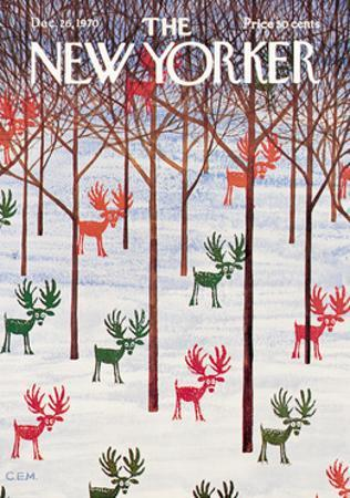 The New Yorker Cover - December 26, 1970 by Charles E. Martin