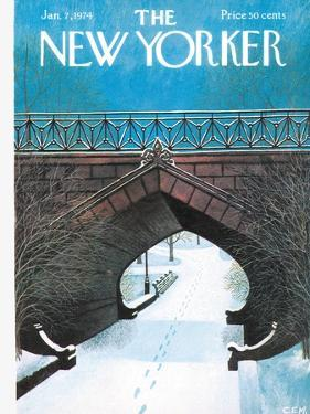 The New Yorker Cover - January 7, 1974 by Charles E. Martin