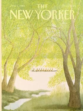 The New Yorker Cover - June 1, 1981 by Charles E. Martin