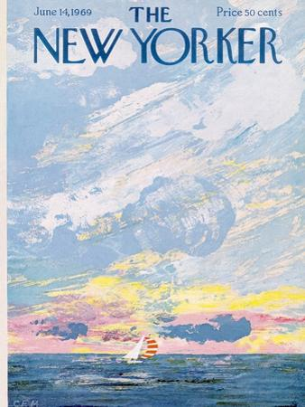 The New Yorker Cover - June 14, 1969 by Charles E. Martin