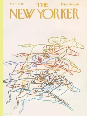 The New Yorker Cover - March 13, 1971 by Charles E. Martin
