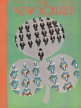 The New Yorker Cover - March 15, 1952 by Charles E. Martin