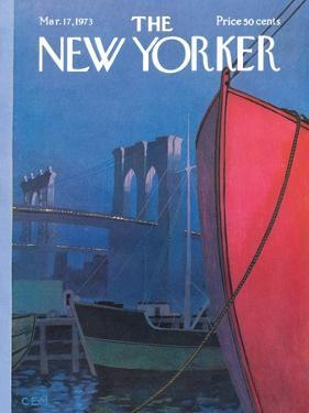 The New Yorker Cover - March 17, 1973 by Charles E. Martin