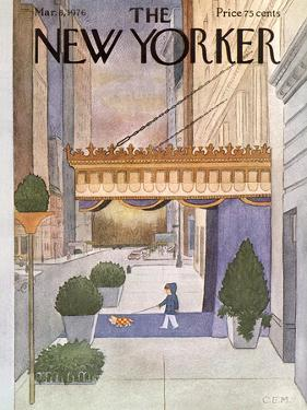 The New Yorker Cover - March 8, 1976 by Charles E. Martin
