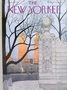 The New Yorker Cover - November 15, 1976 by Charles E. Martin