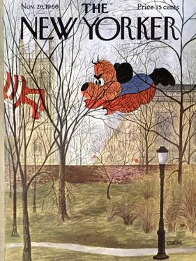 The New Yorker Cover - November 26, 1966 by Charles E. Martin
