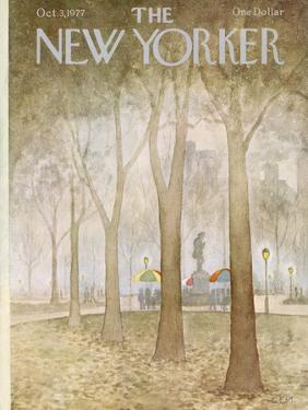 The New Yorker Cover - October 3, 1977 by Charles E. Martin