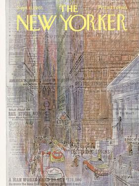 The New Yorker Cover - September 11, 1965 by Charles E. Martin