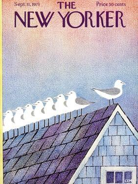 The New Yorker Cover - September 11, 1971 by Charles E. Martin