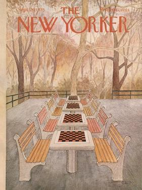 The New Yorker Cover - September 29, 1975 by Charles E. Martin
