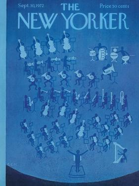 The New Yorker Cover - September 30, 1972 by Charles E. Martin