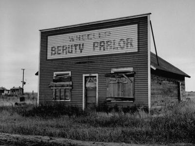 Boarded Up Beauty Salon by Charles E. Steinheimer