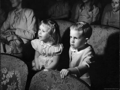 Children Watching Cartoons in a Movie Theater by Charles E. Steinheimer