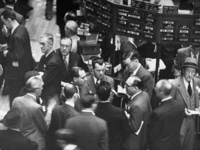 People Crowding the Stock Exchange Building by Charles E. Steinheimer