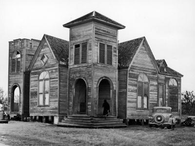 Wooden African American Baptist Church by Charles E. Steinheimer