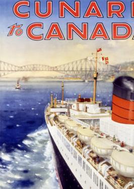 Cunard Line, Canada by Charles Eddowes Turner