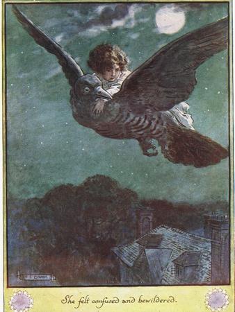 Flight on the Bird, Illustration from 'The Cuckoo Clock' by Mrs Molesworth,