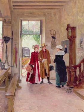 Arrival at the Inn by Charles Edouard Delort