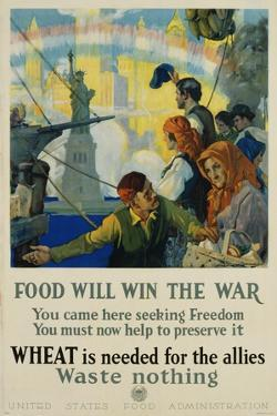 Food Will Win the War Poster by Charles Edward Chambers