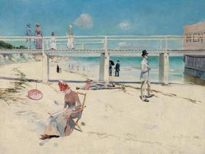 A Holiday at Mentone, 1888 by Charles Edward Conder