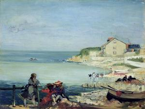 Beach Scene, Swanage by Charles Edward Conder
