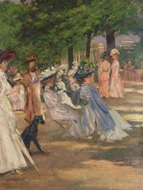 Figures in Hyde Park by Charles Edward Conder