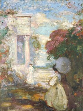 Lyrical Landscape with Two Figures in Nineteenth Century Dress, 1890-1900 by Charles Edward Conder