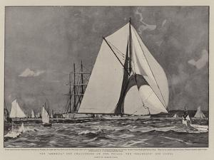 The America Cup Challenger on Her Trials, the Shamrock Off Cowes by Charles Edward Dixon