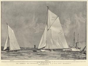 The America Cup Challenger, Shamrock II in a Trial with Shamrock I by Charles Edward Dixon