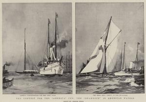 The Contest for the America Cup, the Shamrock in American Waters by Charles Edward Dixon