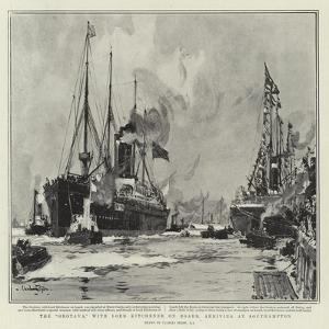 The Orotava, with Lord Kitchener on Board, Arriving at Southampton by Charles Edward Dixon