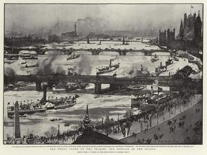 The Penny Fleet of the Thames, the Opening of the Season by Charles Edward Dixon