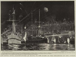 The Royal Tour, Illuminations at Malta on the Night of the Departure of the Ophir by Charles Edward Dixon