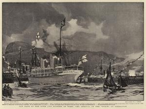 The Tour of the Duke and Duchess of York, the Arrival of the Ophir at Gibraltar by Charles Edward Dixon