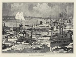 The Yachting Fever in New York, Excursion Steamers Which Follow the Racing by Charles Edward Dixon