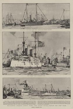 Welcoming Admiral Dewey Home, the Grand Naval Parade Off New York by Charles Edward Dixon