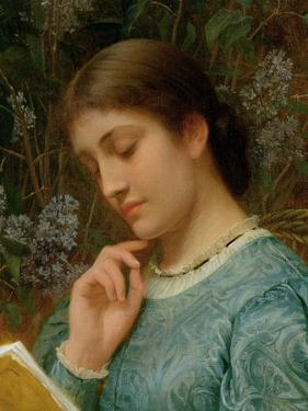 Girl Reading (Possibly Kate Dickens) by Charles Edward Perugini