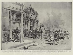 The Trouble in the Philippines, American Troops Entering San Fernando by Charles Edwin Fripp