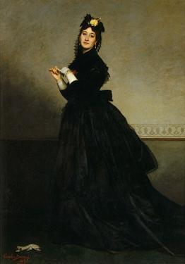 Lady with a Glove, Madame Carolus-Duran nee Pauline Croizette, c.1869 by Charles Émile Carolus-Duran