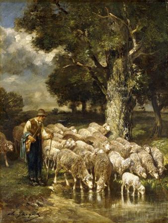 A Shepherd Tending His Flock