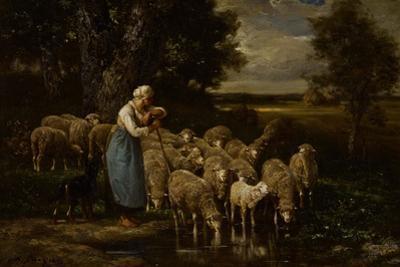 Shepherdess and Sheep, Fontainebleau