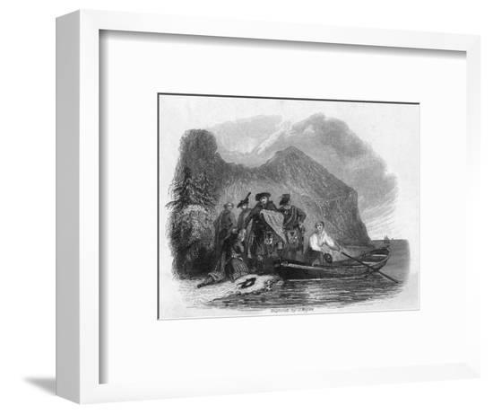 Charles Escapes Scotland--Framed Giclee Print