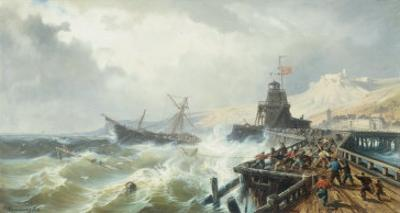 Rescuing a Ship in Stormy Seas